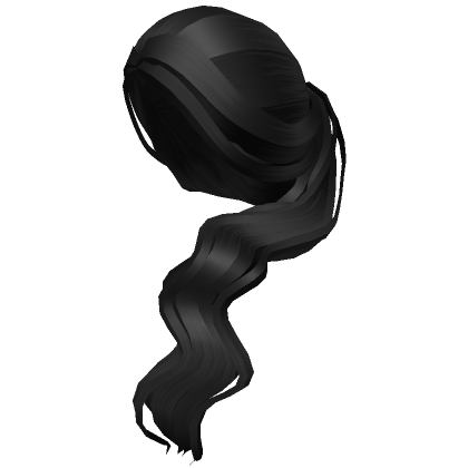 Black-aesthetic-side-ponytail-Roblox