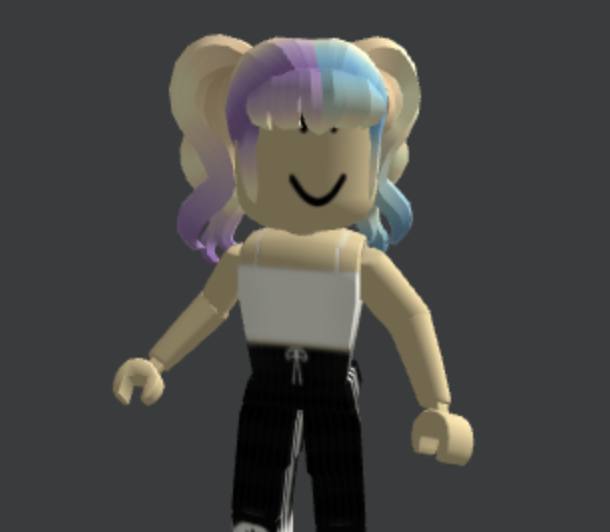 Curly-Pigtails-With-Bangs-Blond-Sky-Ombre-Split-Roblox-Avatar