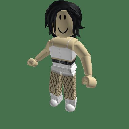 Cute-white-top-w-White-plaid-pants-Roblox-Avatar