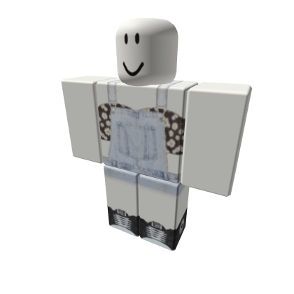 Daisy-Crop-Top-with-Washed-Overalls-And-Converse-Roblox