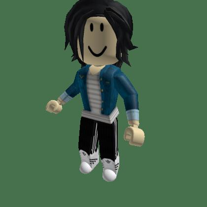 Grey-Striped-Shirt-with-Denim-Jacket-Roblox-Avatar