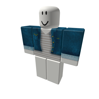 Grey-Striped-Shirt-with-Denim-Jacket-Roblox