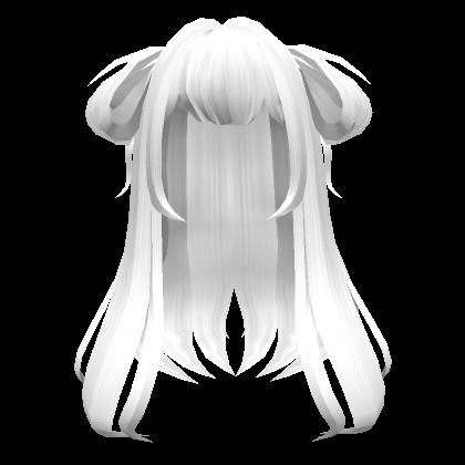 Loose-White-Anime-Side-Buns-Roblox