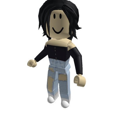 Navy-Blue-Button-Front-Off-Shoulder-Top-Roblox-Avatar
