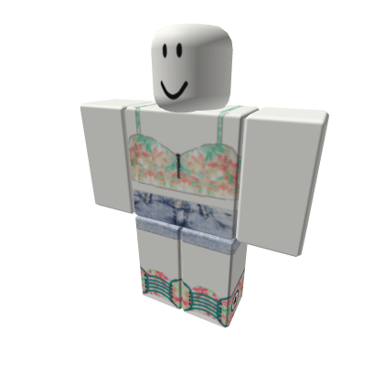 Tribal-Top-w-Denim-Shorts-And-Floral-Convers-Roblox