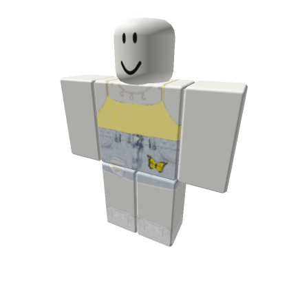 yellow-butterfly-shorts-w-vsco-top-Roblox
