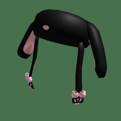 Black Fluffy Aesthetic Bunny Hat