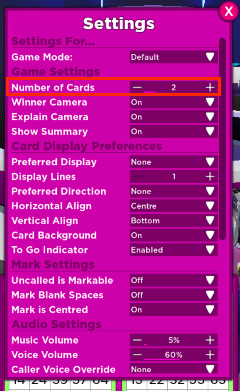 Bloxy-Bingo-Change-Number-Of-Cards