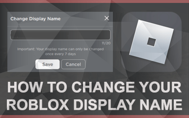 How to change your Roblox Display Name