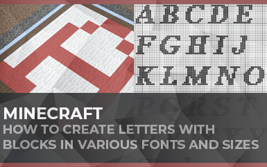 How to Create Minecraft Letters with Blocks from A to Z