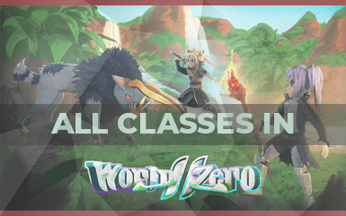 All Roblox World Zero Classes and their Skills