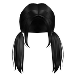 Aesthetic low piggytails in black roblox hair