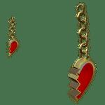 Broken Heart Gold Earrings roblox