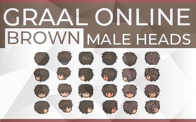 Graal Online - Brown Male Heads