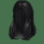 Heavenly Flowy Black Hair Roblox ID