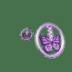 Purple Butterfly Hoop Earrings Roblox