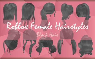 Roblox Female Hairsyles - Black Hair