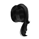 Shimmering Side-Part in Black Roblox Id